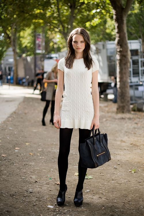 3 The Style This Is How To Wear A White Sweater Dress Near
