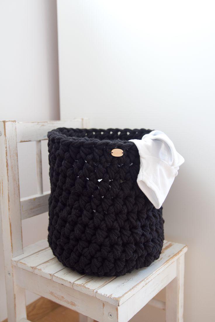 Crochet cotton cord basket cotton storage