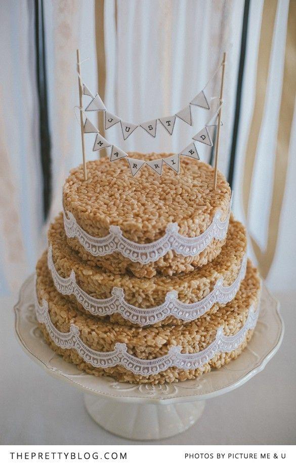 Rice Crispy Cake Reinhardt & Melanie's Late Summer Soiree | Real weddings | The Pretty Blog
