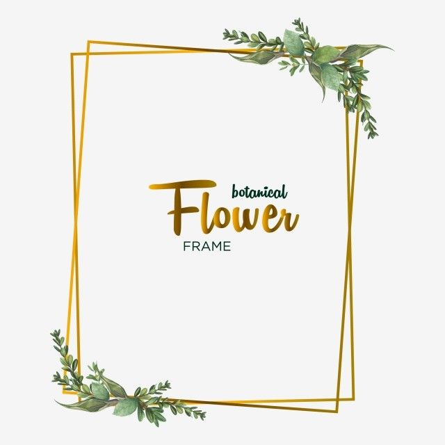 Botanical Flowers Frame Design For Wedding Invitation Card ...