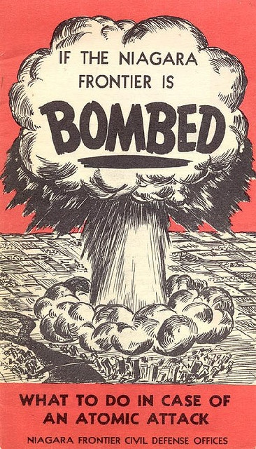 """If the Niagara Frontier Is Bombed"" - cold war pamphlet (front) by agenbyte, via Flickr"