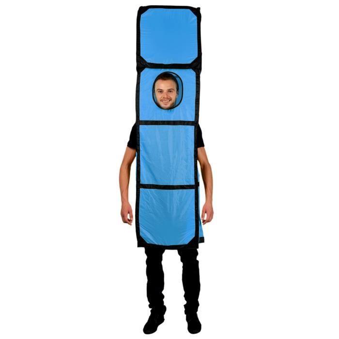 Costume Tetris Bleu Colonne