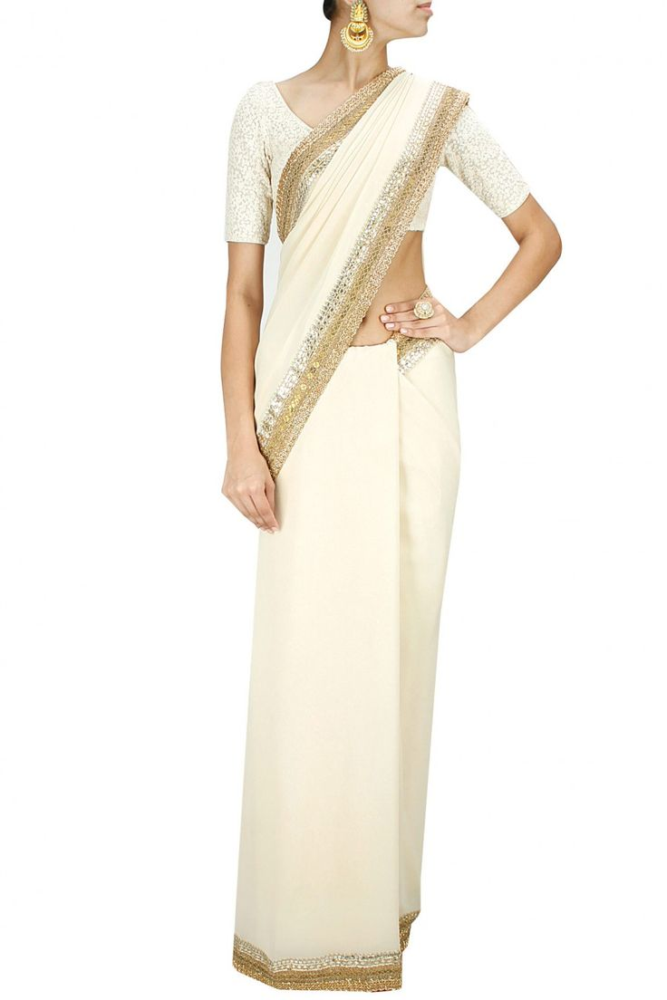 Best 25 White Saree Wedding Ideas On Pinterest White