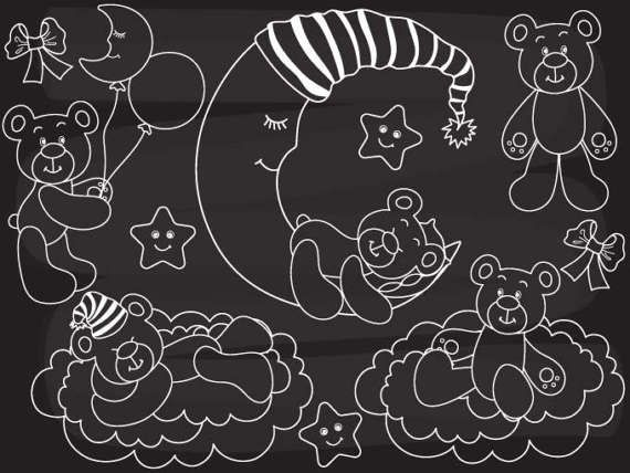 More Baby Bear Clipart can be found here: http://etsy.me/2nfxmup  More Chalkboard Clipart can be found here: http://etsy.me/2o3ZJ3G  Chalkboard Baby Bear Clipart - Digital ... #thecreativemill