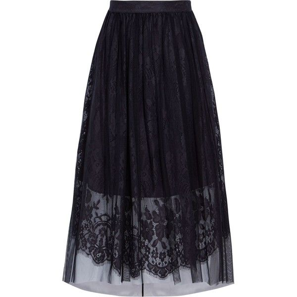 Coast Rhiannon Tulle Lace Skirt (677.225 IDR) ❤ liked on Polyvore featuring skirts, sale women skirts, knee length tulle skirt, coast skirts, tulle skirts, blue tulle skirt and blue a line skirt