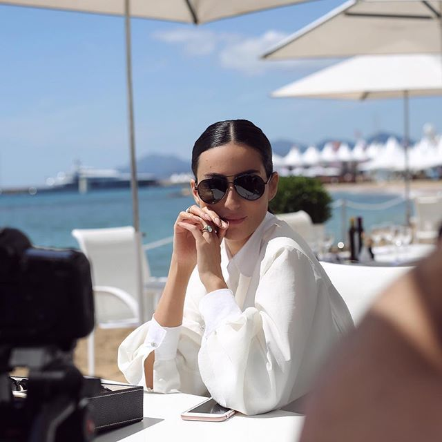 boucheron: Producer and Dubai TV star Diala Makki chose to wear creations from the Maison Boucheron for the tapping of her latest television program. Ms Makki is also wearing the new Boucheron eyewear collection  #Boucheron #BoucheronEyewear #Cannes2016