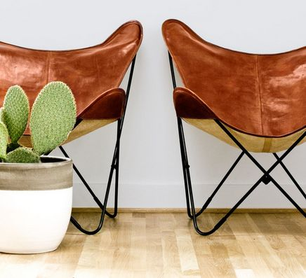 beautiful, hand-crafted leather butterfly chairs from Argentina