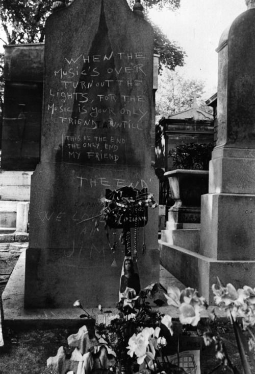 the grave of Jim Morrison /true to his own spirit