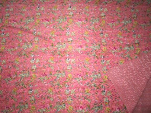 New Kantha Quilt Throw Gudri Ralli Twin Size Reversible Coral Bedspread Paradise | eBay