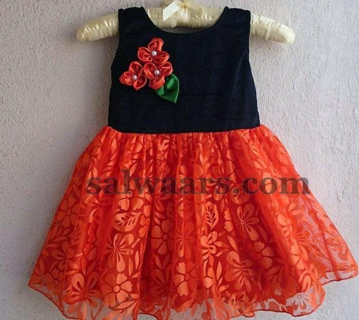 Brasso Red and Black Frock