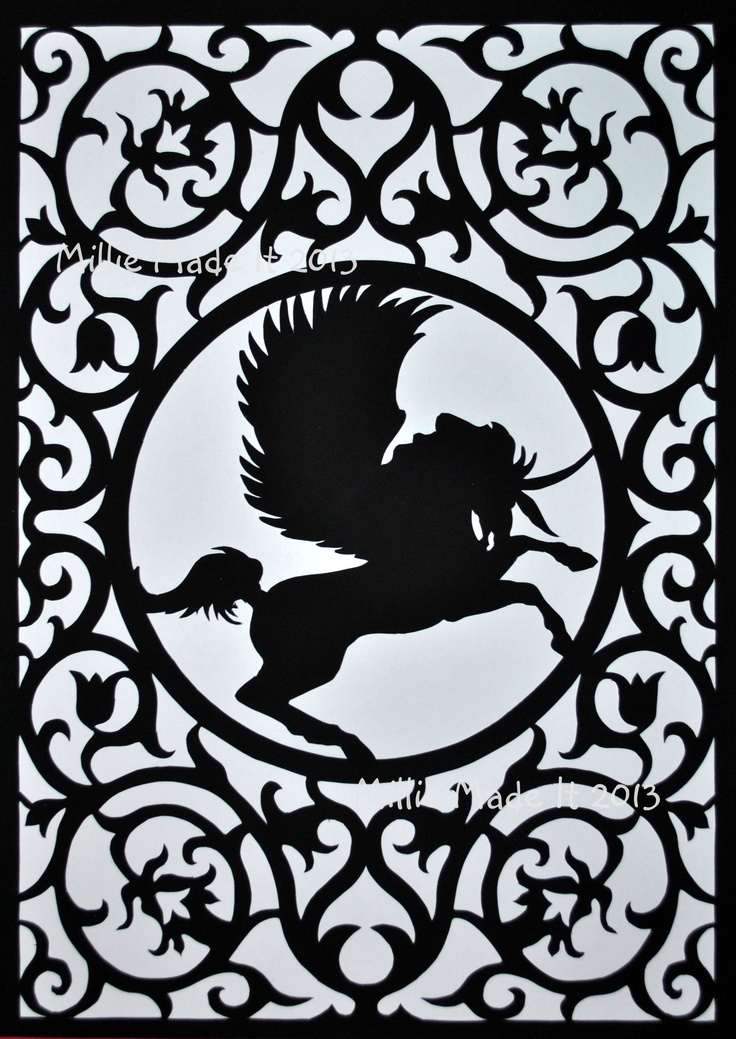 Unicorn papercut www.facebook.com/milliemadeit