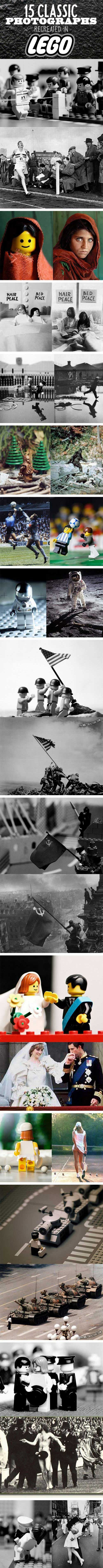 Classic pics recreated in Lego. Cool (except there are only 4 Legomen raising the flag when there should be 5; my history nerdliness won't let this go unmentioned).