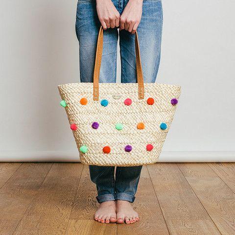 Pom Bag Oahu By Roxy A Basket With Colour Pop