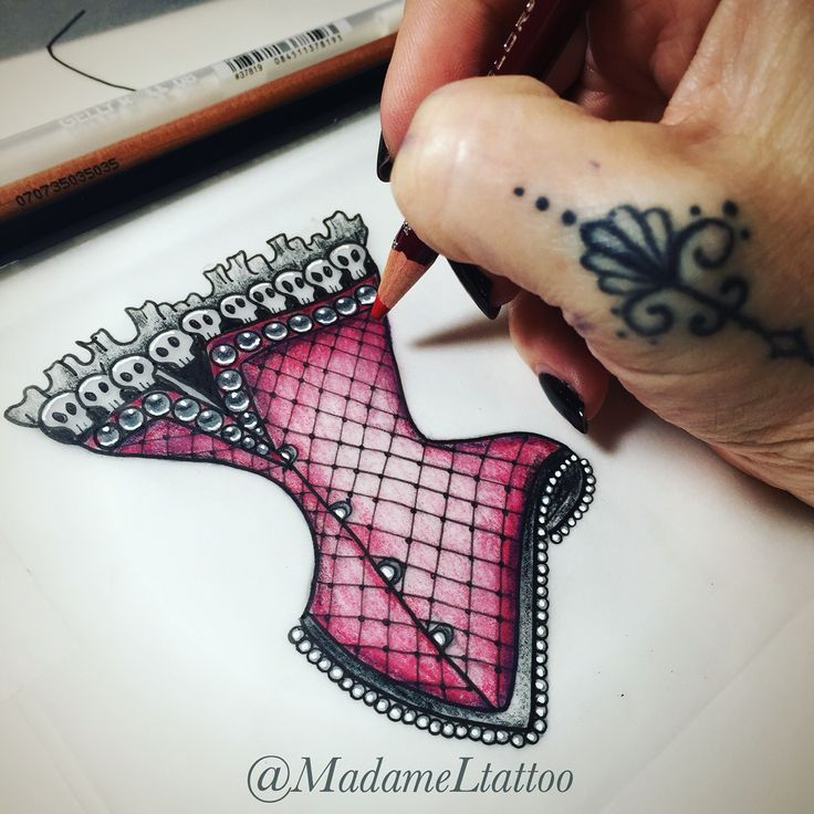 Corset tattoo flash
