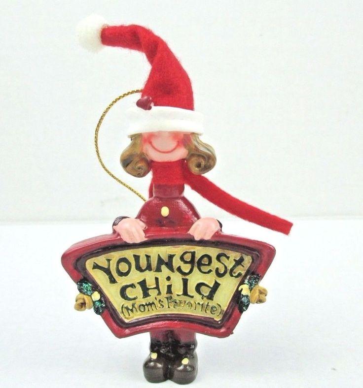 Kurt S Adler Christmas Ornament Moms Favorites Youngest Child NEW Santas World #KurtSAdler