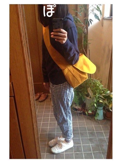 だちこ|ateliers PENELOPEのメッセンジャーバッグを使ったコーディネート - WEAR