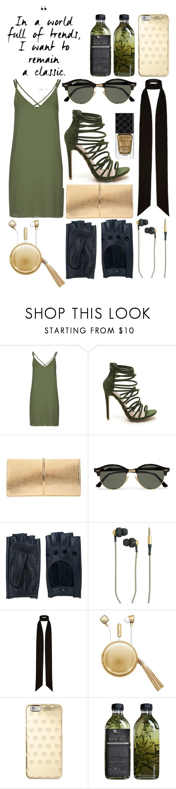 """""""Military style"""" by lynn-frank ❤ liked on Polyvore featuring Topshop, Nina Ricci, Ray-Ban, Zanellato, Kreafunk, River Island, The Macbeth Collection, Michael Kors, AMBRE and Gucci"""