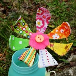 A pretty way to recycle colorful fabric scraps into a fun project for kids and adults alike!
