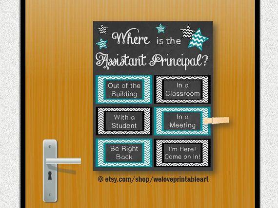 Assistant Principal Gift Idea Office Door by WeLovePrintableArt