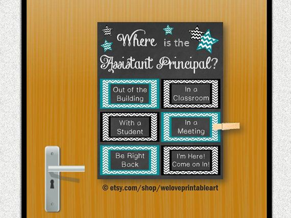 Assistant Principal Gift Idea Office Door by WeLovePrintableArt