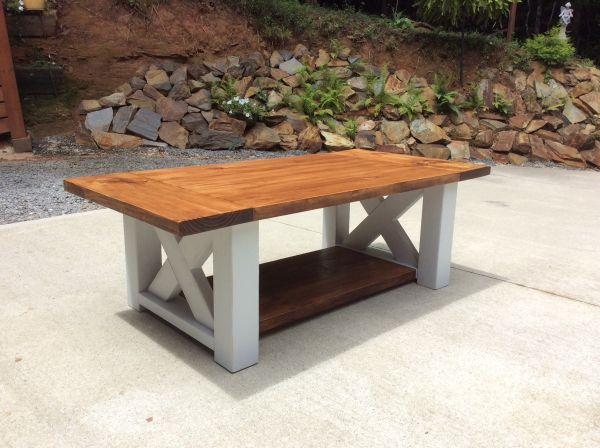 Chunky Farmhouse Coffee Table In 2020 Rustic Coffee Tables