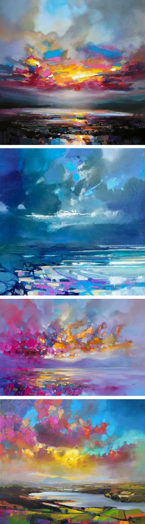 Vibrant Oil Paintings of Scottish Landscapes by Scott Naismith #OilPaintingInspiration #OilPaintingOcean