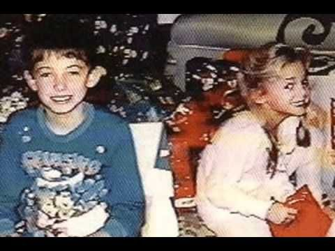 JonBenét and Burke Ramsey, Christmas morning 1996 on the day of her murder. Typically this photo is cropped to show only JonBenet. Occasionally, it's cropped to show only Burke. Rarely is the photo shown with both siblings.
