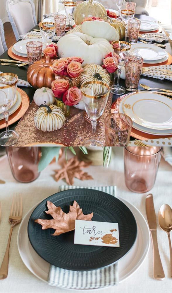As we were saying, we LOVE gold. Rose gold especially. The warm rosy hues perfectly compliment the lush foliage that's unfolding outdoors.