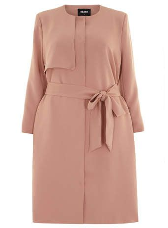 Plus Size Trench Coat - Plus Size Carmakoma Pink Trench Coat