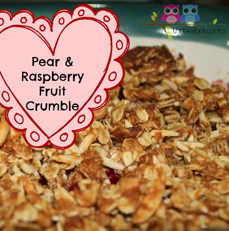 F is for Fruit Crumble