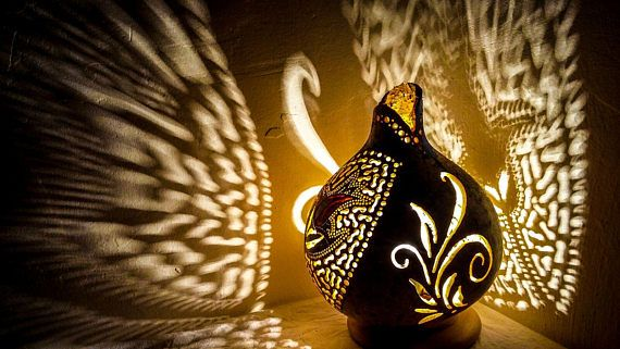 100% HANDMADE Gourd lamps shiny halloween gift Ottoman Turkish