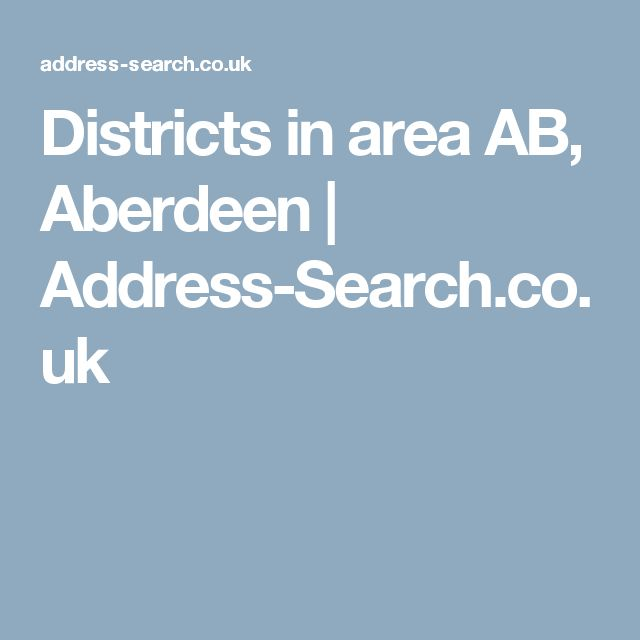 Districts in area AB, Aberdeen   Address-Search.co.uk