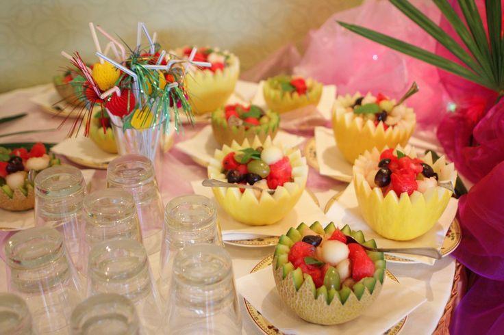A na zakończenie wakacji - orzeźwiające desery w melonie :)
