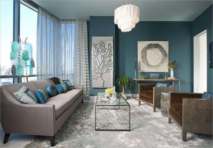 Peinture Bleue Gris Salle A Manger Moderne en 2020 | Salle à manger moderne, Salon bleu, Couleur ...
