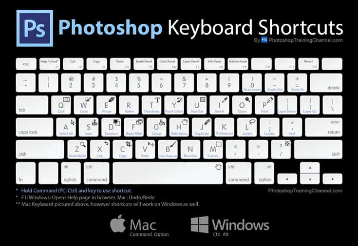 Must-Know Photoshop Keyboard Shortcuts
