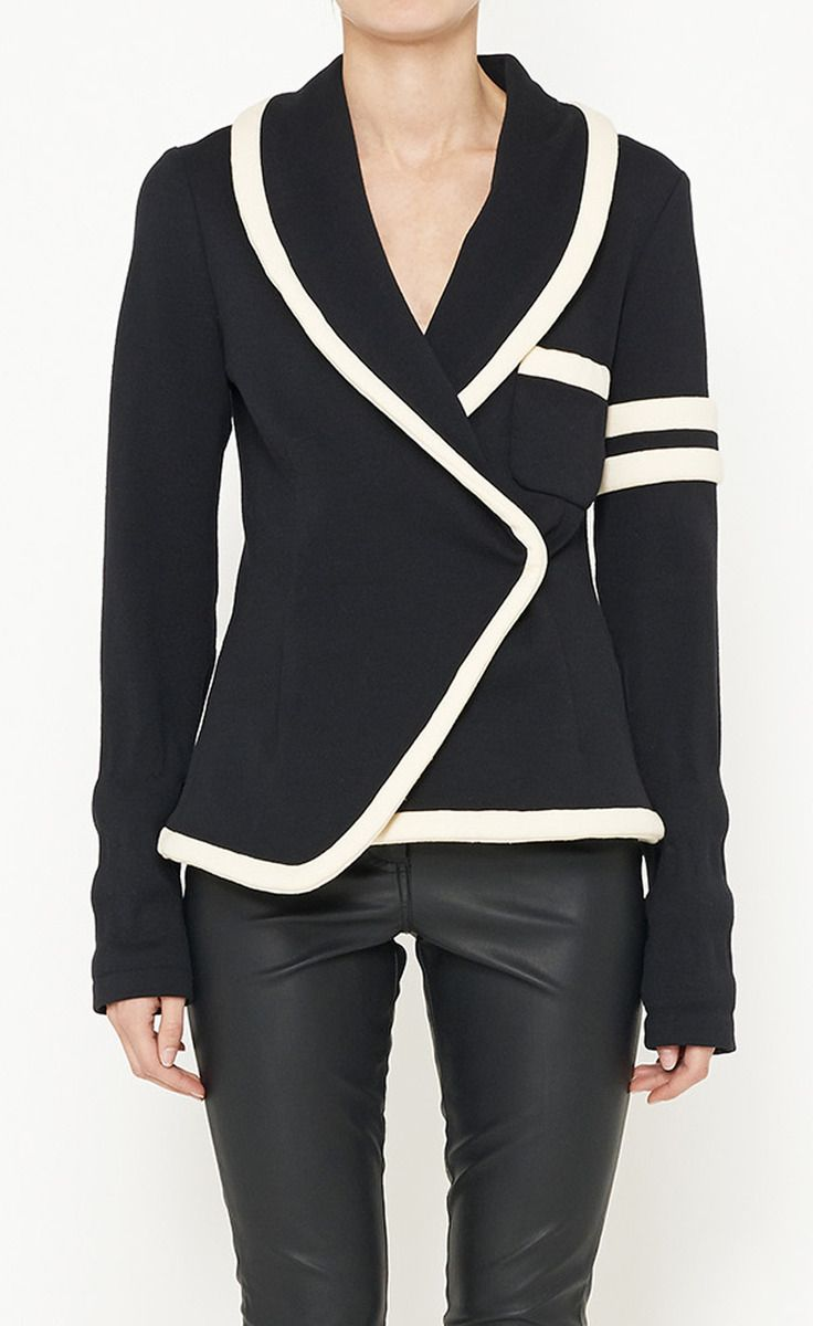 Balenciaga Black And Cream Jacket