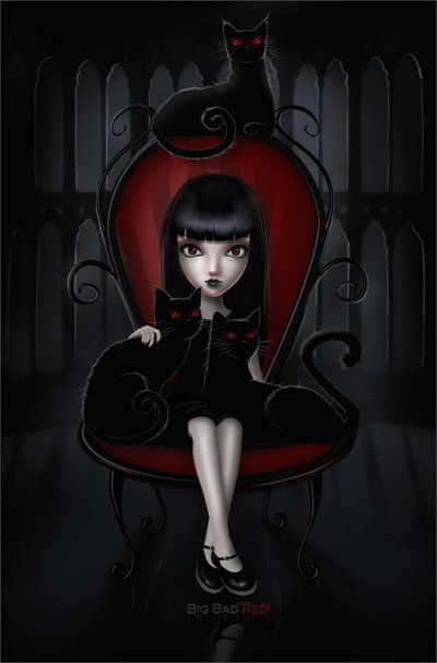 Emily the Strange by =BigBad-Red on deviantART