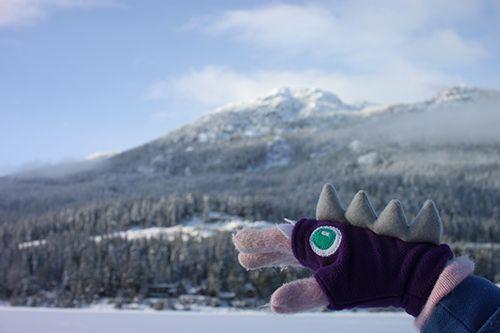 fingerless fleece monster gloves | Tally's Treasury