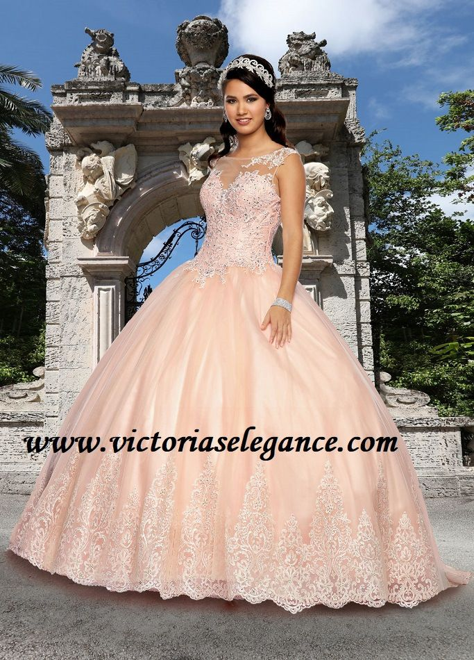 652e47f3d57 Quince Royale Round Illusion Neckline Ball Gown 41258