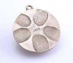 Family fingerprint ornament: 2 c water, 1 c salt, water to playdough consistency.  Print, bake 250 degrees for 2 hours.  Spray with metallic paint.