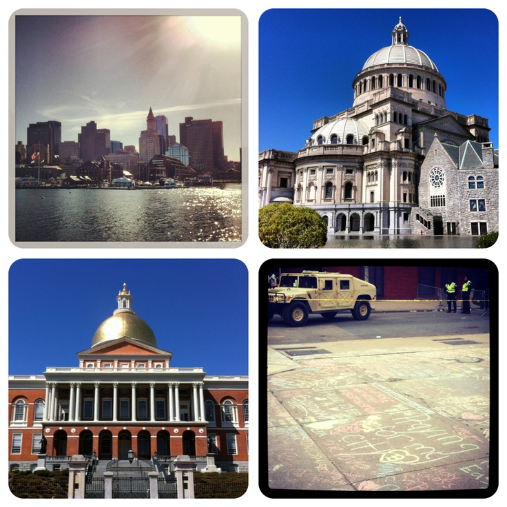 Boston April 2013, beautiful city, tragic week