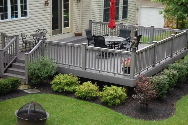 Landscaping around a High Deck | Custom Wood Decks...