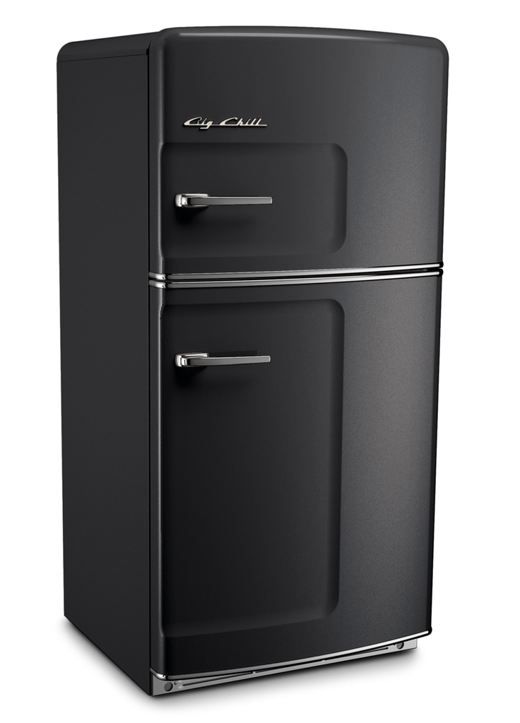Black Retro Refrigerator by Big Chill