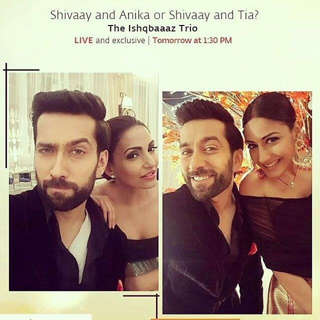 Catch us Facebooking LIVE with u guys tom 1.30 PM .. YAY we can't wait #ISHQBAAAZHITS200..Official Surbhi Chandana insta...And of course Shivaay&Anika