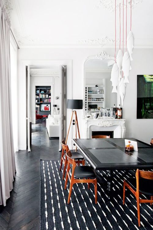 black+white+wood