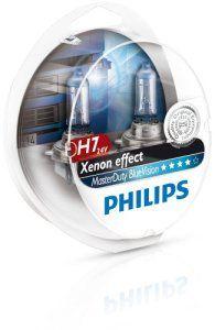 PHILIPS MASTERDUTY BLUEVISION – Boîte de 2 ampoules halogènes H7 13972MDBVS2 Résistance extrême aux vibrations et Effet Xénon 4000K: Kit de…