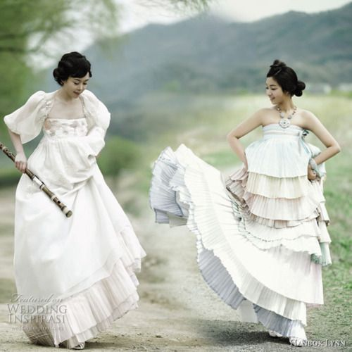 Hanbok wedding dresses with a modern twist.