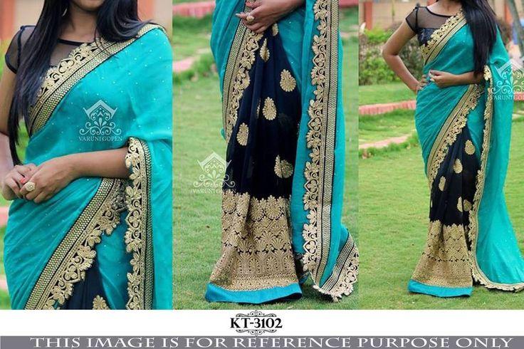Sari Bollywood Indian Designer Saree Party Lehenga Pakistani Wedding KT-3102…