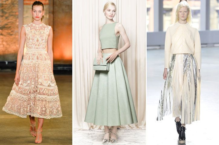 tea length - nyfw spring 2014 trend (been a while since we've seen skirts that length be at all fashionable)
