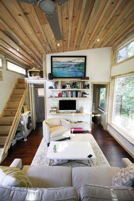 The featured cabin is called The Urban Cabin. The Urban Cabin is a style that can be modified to your custom design and size. The Urban Cabin is the perfect choice for our largest cabin which is 400 square feet. Subscribe to Tiny House Listings on YouTube for lots of upcoming tiny house video tours…